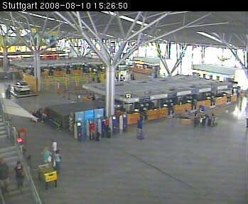 Webcams en el interior del aeropuerto aleman