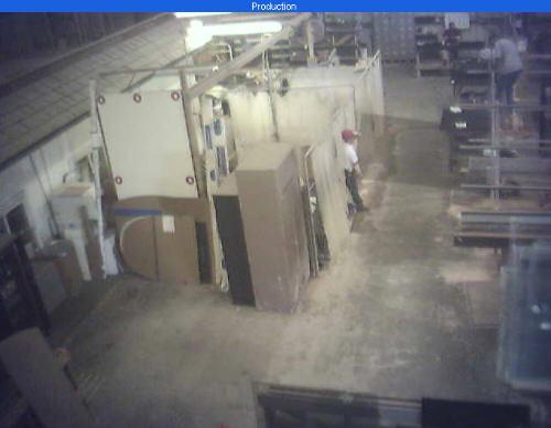 Webcams gratis. Fabrica cristales. Captura obtenida.
