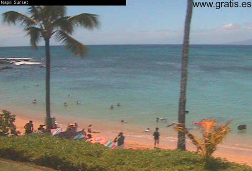 Webcam en un playa (captura)